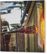 Into The Fire Wood Print