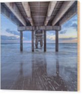 Into The Gulf At Orange Beach Wood Print