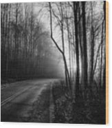 Into The Light Wood Print