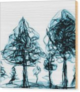 Into The Mysterious Forest Of Imagination Wood Print