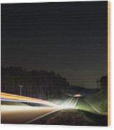 Into The Night Wood Print