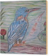 Into The Tropics The Philippine Kingfisher  Wood Print