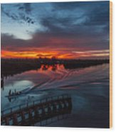 Intracoastal Sunset Wood Print