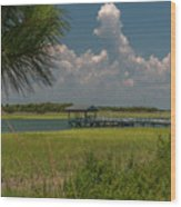 Intracoastal Water In Sullivan's Island South Carolina Wood Print
