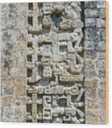 Intricate Details Of Mayan Ruins Wood Print