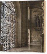 Intricate Ironwork - Lacy Wrought Iron Gates Wood Print