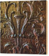 Intricate Wood Carving On Wall Panel At Swannonoa 4407vt Wood Print