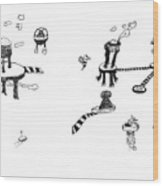 Invasion Mini-series 5-6 Wood Print