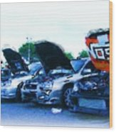 Invasion Of The Import Cars Wood Print