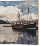 Inverarray Harbor Wood Print