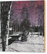 Invernal Landscape Wood Print