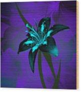 Inverse Lily Wood Print