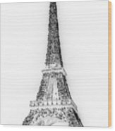 Inverted Eiffel Tower Wood Print