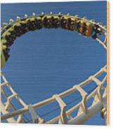Inverted Roller Coaster Wood Print