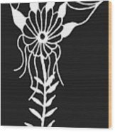 Inverted Small Flower Wood Print