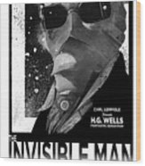 Invisible Man Movie Poster 1933 Wood Print