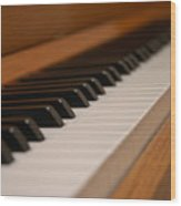 Invisible Pianist Wood Print