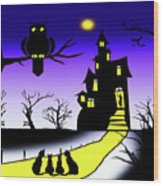 Invited To The Cat House Wood Print