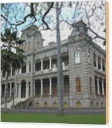 Iolani Palace, Honolulu, Hawaii Wood Print