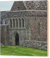 Iona Abbey Wood Print