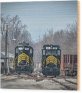 ioneer Lines PREX 912 and 806 at Evansville Indiana Wood Print