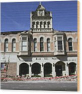 Watsonville I. O. O. F. Building Built In 1893  Damaged By The Loma Prieta Earthquake 1989 Wood Print
