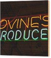 Iovines Produce Wood Print