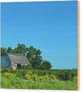 Iowa Barn Wood Print