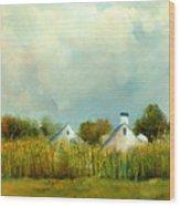 Iowa Cornfields Wood Print