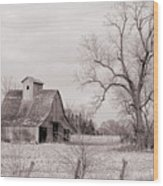 Iowa Farm Wood Print