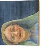 Iowa Lady Wood Print