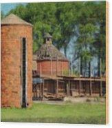 Iowa Silo Wood Print