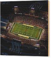 Iowa State Jack Trice Stadium Aerial  Wood Print by Iowa State