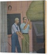 Iowa State Mural - 2 Wood Print