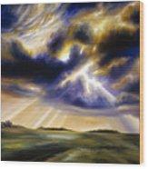 Iowa Storms Wood Print