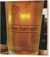 Ipa Beer In Live Nation Cup At Shoreline Amphitheatre During Dead And Company Wood Print
