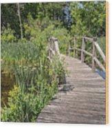 Ipswich River Bridge Wood Print