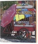 Iquique Chile Street Cart Wood Print