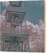 Ir Firetower Wood Print