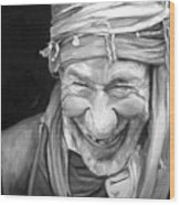 Iranian Man Wood Print by Enzie Shahmiri