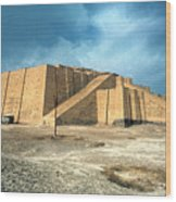 Iraq: Ziggurat In Ur Wood Print by Granger