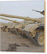 Iraqi T-72 Tanks From Iraqi Army Wood Print
