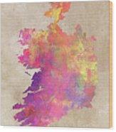 Ireland Map  Wood Print