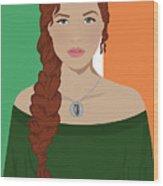 Ireland Wood Print by Nancy Levan
