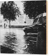 Ireland Rain Wood Print