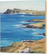 Ireland Sea Wood Print