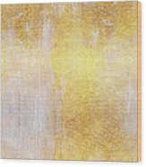 Iridescent Abstract Non Objective Golden Painting Wood Print