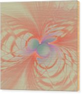 Iridescent Pink Wood Print
