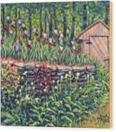 Iris Accents Wood Print