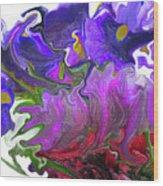 Iris And Tulip Wood Print